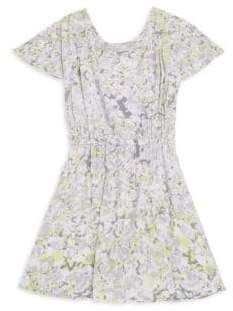 Splendid Girl's Cold-Shoulder Voile Dress