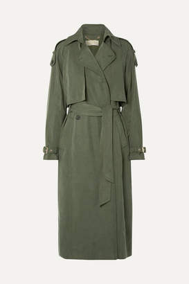 MICHAEL Michael Kors Lyocell Trench Coat - Army green