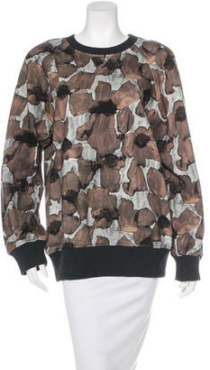 Vera Wang Floral Print Sweatshirt w/ Tags $195 thestylecure.com