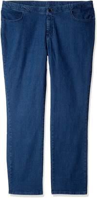 Lee Indigo Women's Tall Plus Size Comfort Collection Straight Leg Jean