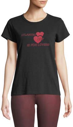 Rag & Bone AC is for Lovers Crewneck Short-Sleeve Cotton Tee