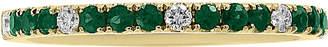Effy Emerald (1/4 ct. t.w.) & Diamond (1/10 ct. t.w.) Band in 14k Gold