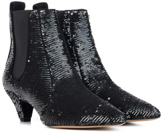 Tabitha Simmons Effie sequinned ankle boots
