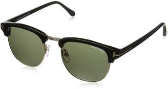 Tom Ford Men's Henry FT0248-05N-51 Black Semi-Rimless Sunglasses