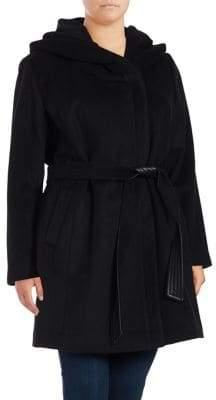 Cole Haan Plus Slick Belted Coat
