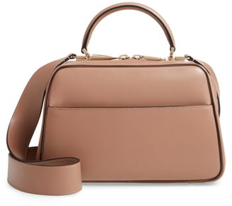 Valextra Medium Serie Leather Top Handle Bag
