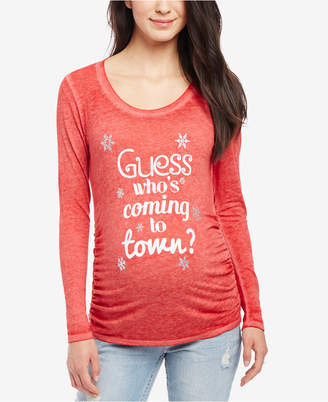 4c8ba6df81c06 Motherhood Maternity Guess Who Coming To Town Maternity Tee