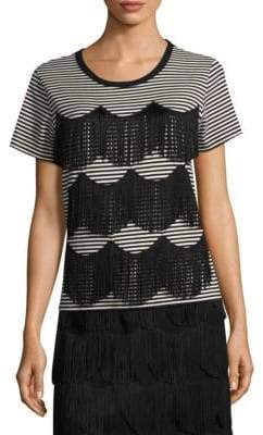 Marc Jacobs Fringe-Trimmed Cotton Tee