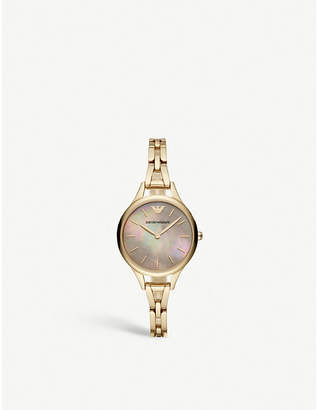 Emporio Armani AR11140 Aurora gold-plated stainless steel watch