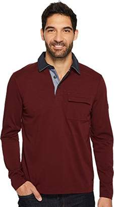 Nautica Men's Long Sleeve Heavy Weight Jersey Polo Shirt with Chest Pocket