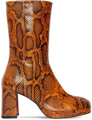 Miista 75MM CARLOTA LIZARD PRINTED LEATHER BOOT
