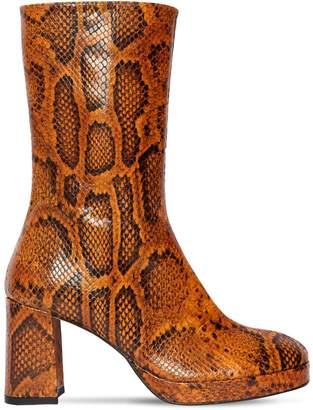 factory authentic 4d356 51182 Miista 75mm Carlota Lizard Printed Leather Boot