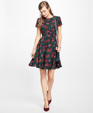 Rose Silk Dress $198 thestylecure.com