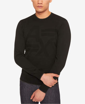 Armani Exchange Men Tonal Logo Sweater