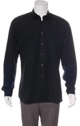 Prada Colorblock Button-Up Shirt