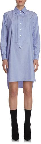 Burberry Burberry Chambray Tunic Shirtdress, Light Blue