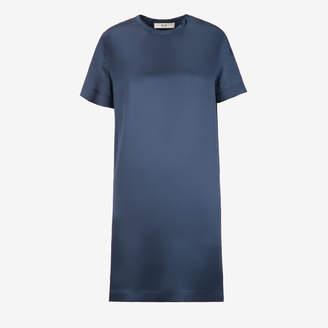 Bally (バリー) - ウィメンズ インクブルー シルクサテン Tシャツドレス