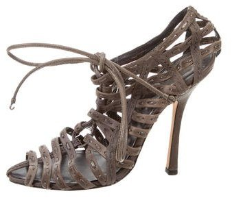 Christian Dior Leather Cage Sandals