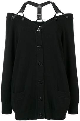 Moschino shoulder strap cardigan