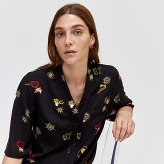 Warehouse Printed Short Pyjama Top