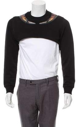 Givenchy Black Horn Cropped Sweatshirt