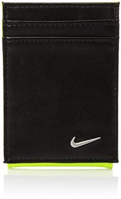 Nike Men's Color Blocked Front Pocket Wallet with Magnetic Money Clip
