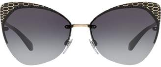 Bulgari cat eye frame sunglasses