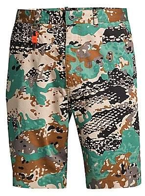 Diesel Men's Camo Print Cargo Shorts