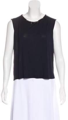 Fendi Button-Up Sleeveless Top