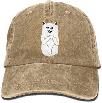 Alility Caps Humor RIPNDIP CAT Cotton Adjustable Denim Hats Baseball Cap ForMan And Woman