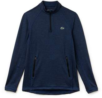 Lacoste Men's SPORT Zip Neck Technical Midlayer Golf Sweatshirt