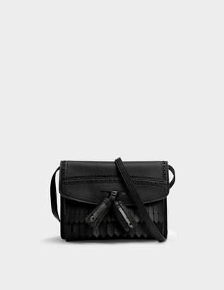 Burberry Small Macken Crossbody Bag in Black Grained Calfskin