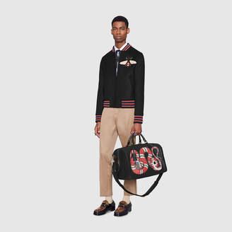 Gucci Kingsnake print leather duffle