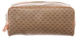 Gucci Vintage Micro GG Plus Toiletry Bag