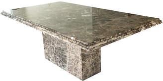 One Kings Lane Vintage Modernist Pedestal Marble Dining Table