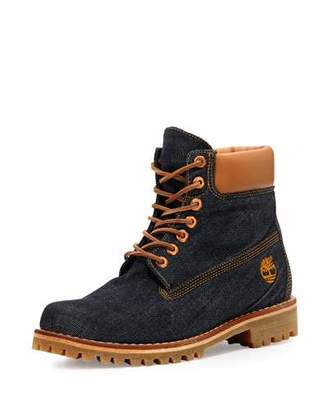"Timberland x Cone Denim Heritage 6"" Premium Hiking Boot $225 thestylecure.com"