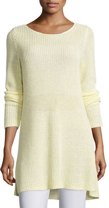 Eileen Fisher Shaker-Knit Organic Linen Sweater $218 thestylecure.com