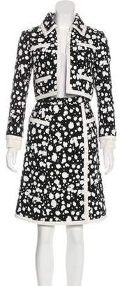 Chanel Hand-Painted Tweed Skirt Suit