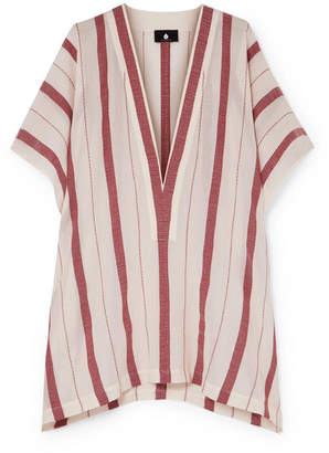 SU Paris - Buka Striped Cotton-gauze Tunic - Ecru