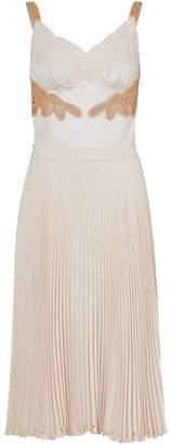 Burberry Lace Trim Cut-out Panel Slip Dress