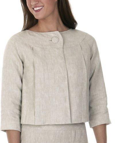 Isaac Mizrahi for Target® Linen Blazer - Khaki/ White