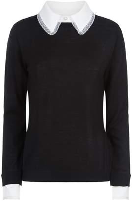 Claudie Pierlot Contrast Collar Sweater