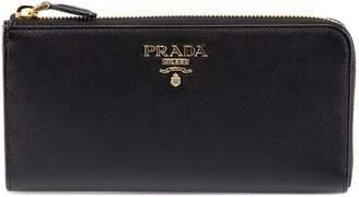 Prada Zipped Saffiano Wallet