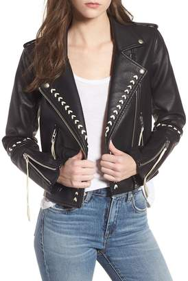 Blank NYC BLANKNYC Denim Whipstitched Faux Leather Moto Jacket