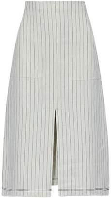 Alexander Wang Split-Front Pinstriped Cotton Skirt
