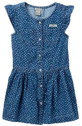 Calvin Klein Printed Denim Dress (Little Girls)