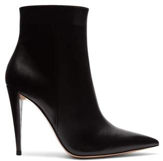 Gianvito Rossi Scarlett Point Toe Ankle Boots - Womens - Black