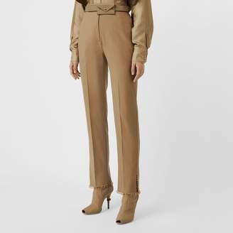 Burberry Ring-pierced Wool Trousers