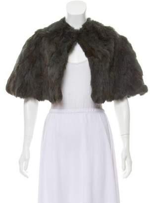 Adrienne Landau Crew Neck Fur Capelet