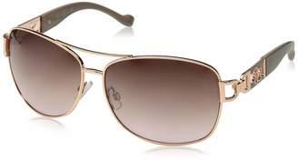 Jessica Simpson Women's J5713 Rgdnd Non-Polarized Iridium Aviator Sunglasses